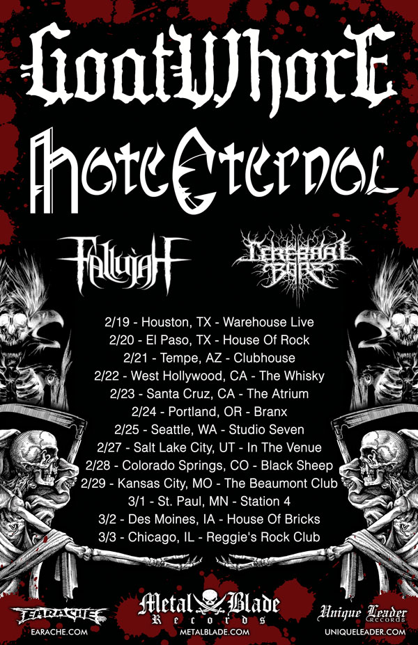 Goatwhore, hate Eternal, Cerebral Bore