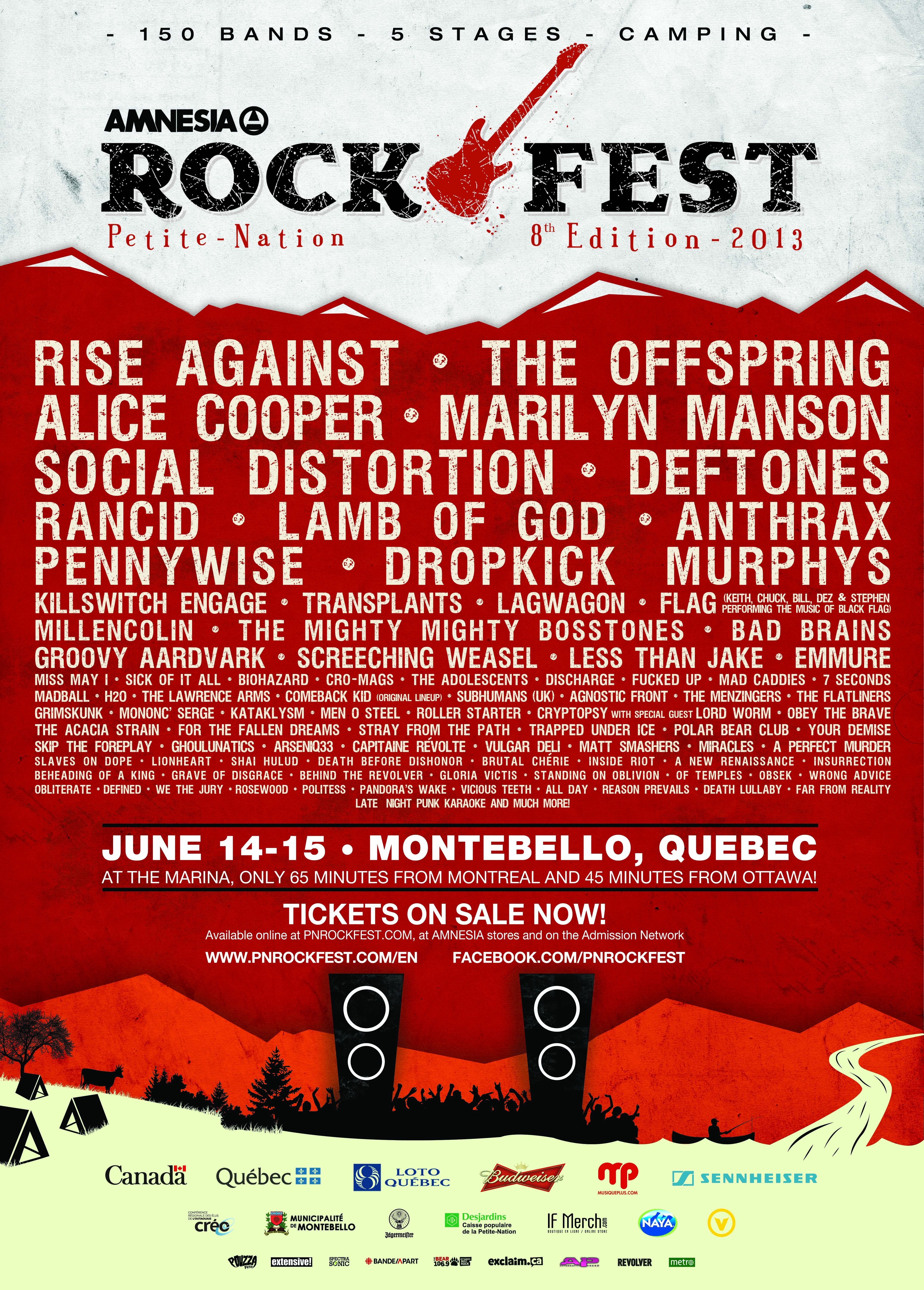 Complete Lineup For Amnesia Rockfest Announced