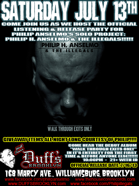 Philip H Anselmo And The Illegals Listening Party