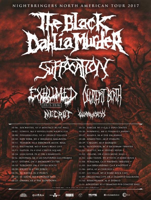The Black Dahlia Murder NA Tour
