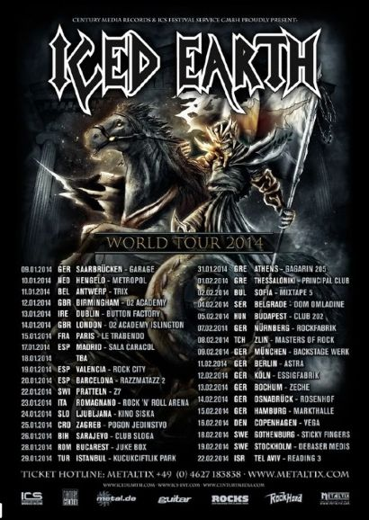 iced earth world tour