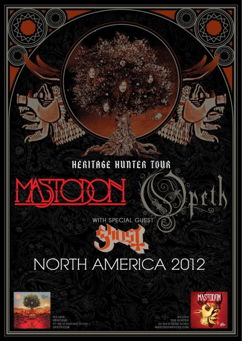 Mastodon, Opeth, Ghost