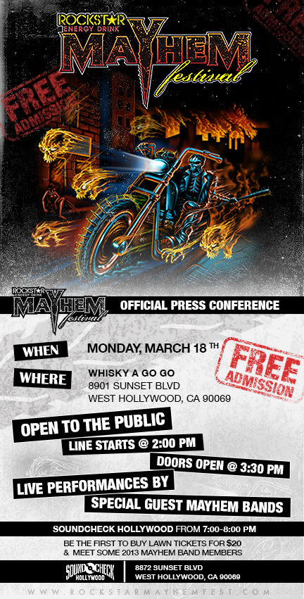 Mayhem Fest Press Conference