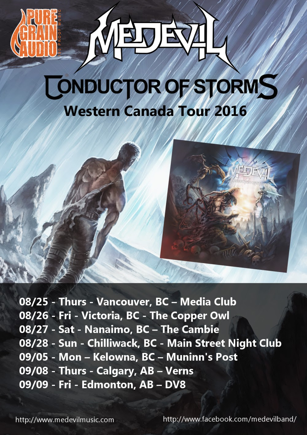Conductor of Storms,Western Canada Tour
