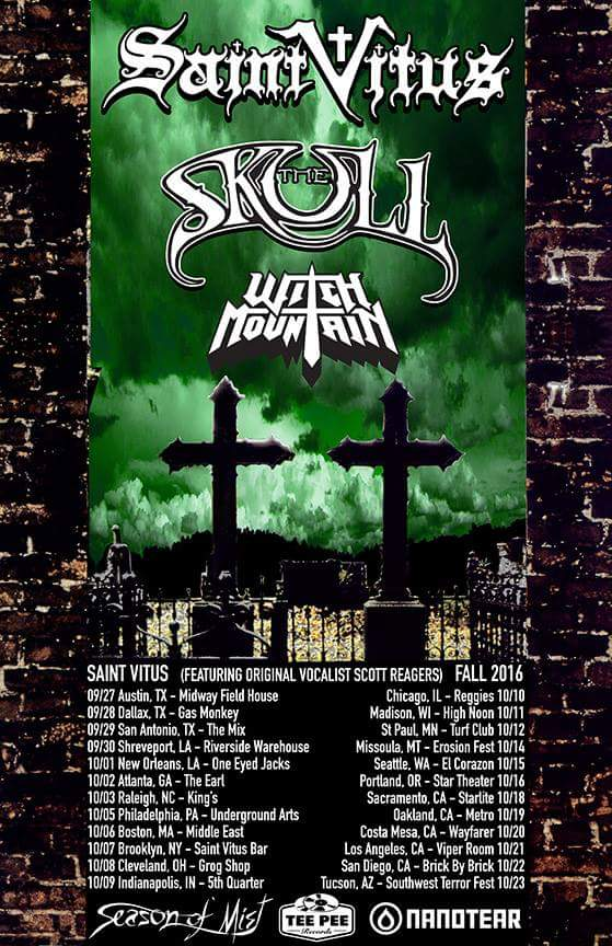 Saint Vitus 2016 US Tour