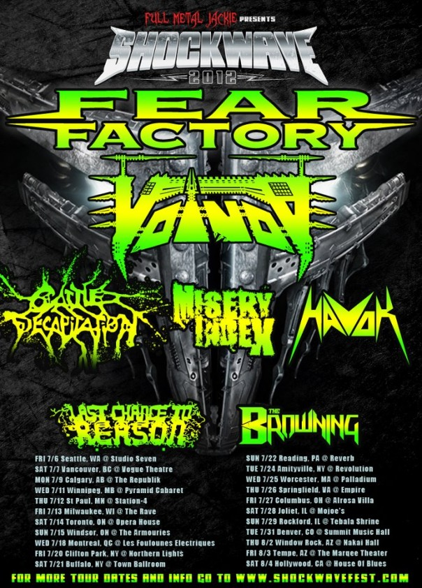 shockwave tour poster 2012