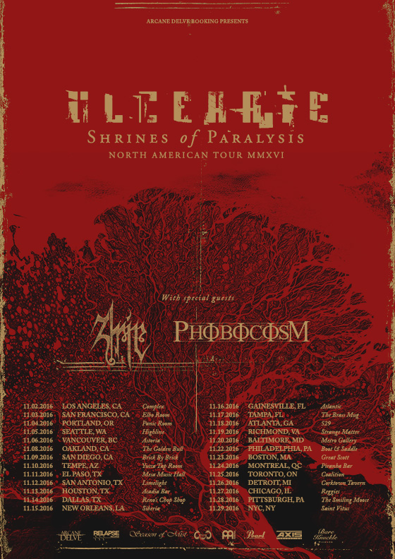 Ulcerate 2016 North America Tour