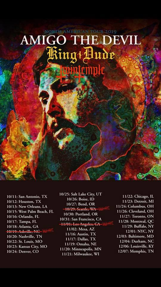 AMIGO THE DEVIL TOUR DATES