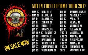 Guns N Roses Tour 2017 - Second Leg