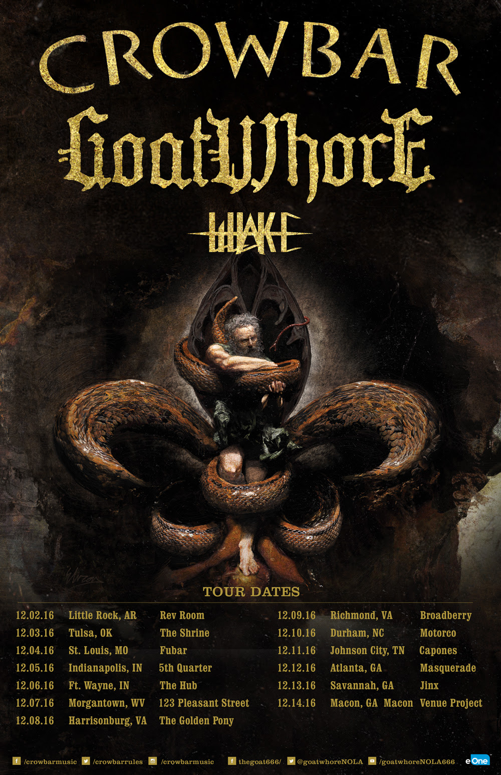 Crowbar Tour with GoatWhore