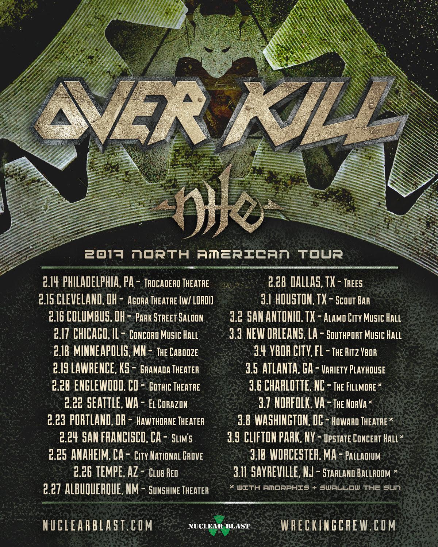 Overkill 2017 Tour