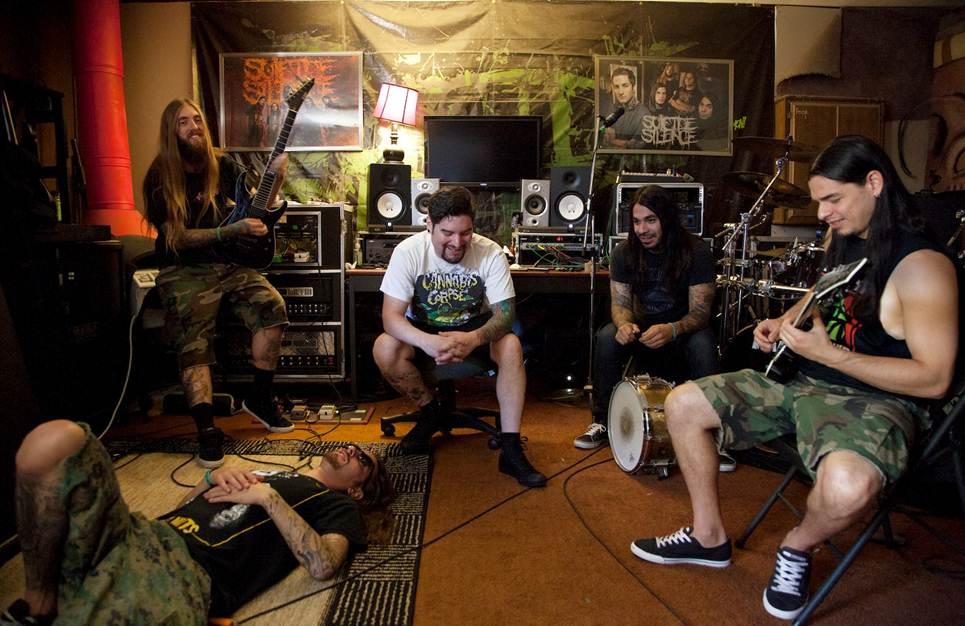 Suicide Silence studio