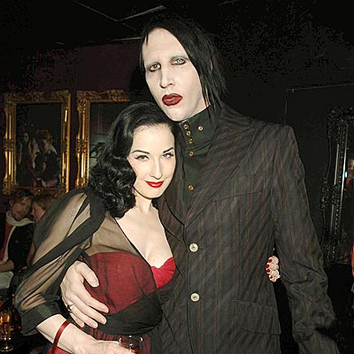 marilyn manson wallpapers. Dita Von Teese - Marilyn