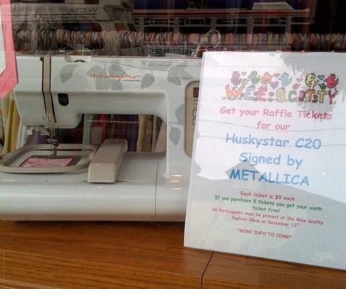 Metallica sewing machine