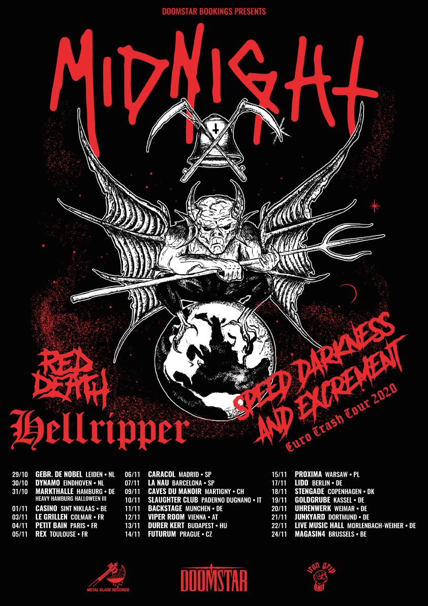 Les Caves Du Manoir the gauntlet - red death announce european tour with